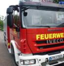 Wohnhaus am Schützenplatz in Wittmund in Brand