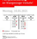 Montag: Fahrplanänderung (Corona)