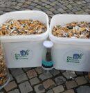 """Pilotprojekt """"Kippenfrei"""" mit Präsentation auf dem Wittmunder Marktplatz und Vorstellung des Sammelsystems """"Tobacycle"""""""